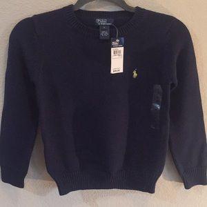 Ralph Lauren navy boys sweater. NWT size S